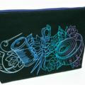 'Sewing' Embroidered Project Zippered Pouch