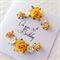 70th birthday paper roses yellow ANY AGE custom make her female card