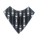 Arrows on black Bandana bib