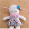 Little Lamb Sylvia in the blue floral dress