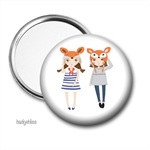 Pocket mirror, purse mirror, 
