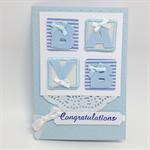 Baby Boy Card - 4 Felt Letters