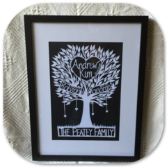 "*Made To Order*. Custom  Family Tree"" - PaperCut Art"