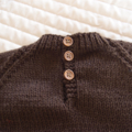 SIZE 3 - Hand knitted jumper in Brown & Burnt Orange OOAK, washable, warm