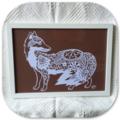 """Floral Fox"" - Paper Cut Art"