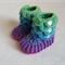 Crocodile Stitch Booties 0-3 mths