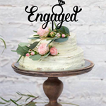 Wedding with Ring – Custom Engagement Cake Topper - Made in Melbourne