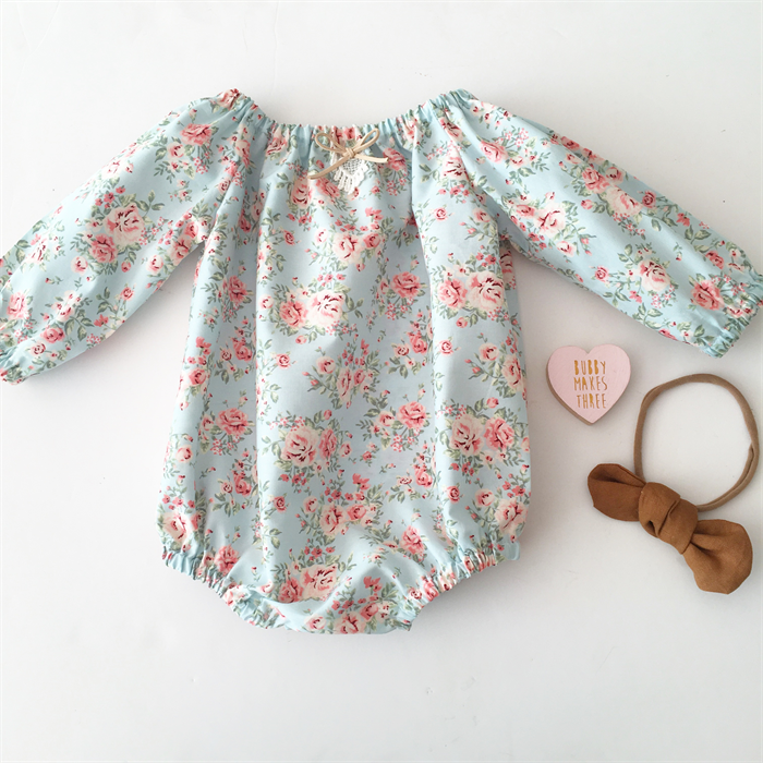 c91199b01c16 Autumn floral Long Sleeve Baby Girl Romper - Winter