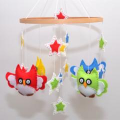 Owl and Stars mobile