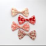 Cotton fabric hair bow clip