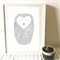 Hand Drawn Sleepy Dot Owl art print