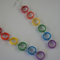 Rainbow Quilling Earrings
