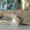 White Sea Glass Oyster Shell Pendant