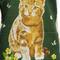 Metro Retro 'Ginger Cat - Primrose Puss' Vintage Tea Towel Apron  - Christmas