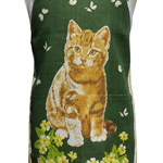Metro Retro 'Ginger Cat - Primrose Puss' Vintage Tea Towel Apron  Mother's Day