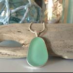 Seafoam Sea Glass Pendant