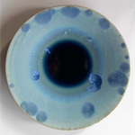 Blue Crystalline Bowl