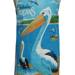 Metro Retro 'Australian Pelicans' Tea Towel HANDMADE Kitchen Apron Birthday