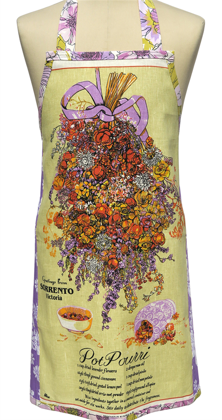 Metro Retro 'Pot Pourri' Vintage Tea Towel Ladies   Kitchen - Birthday Gift Idea