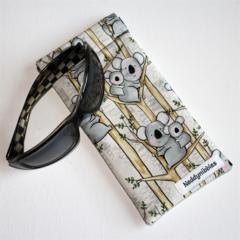 Padded Sunglasses Pouch in Cute Koala Fabric