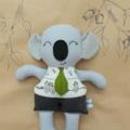 Boy Koala with the gum leaf tie | Soft toy bear