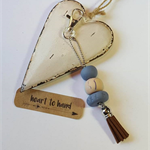 Polymer Clay Beaded Key Ring/Bag Tag