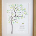 Baby Boy Christening, guest book, baptism, naming day, fingerprint tree,