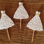 Wedding Dress  Cupcake Toppers (12 Pack)