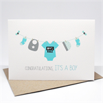 Baby Boy Card - Baby Boy Items on Line - Boys Rule Romper - BBYBOY043