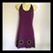 Ladies 8 to 10 Purple Halter Dress - daisy, flower, hippy, retro, boho