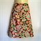 Brown Retro Floral Print A Line Skirt - ladies sizes 8 - 14 avail, vintage