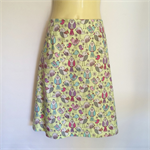 Green Retro Bird Print A Line Skirt - ladies sizes 8 - 18 avail, vintage
