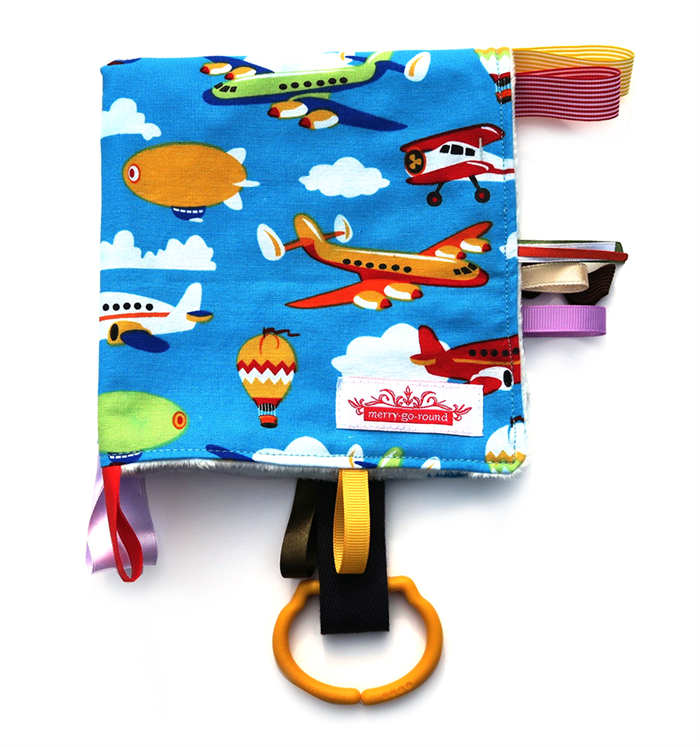 Taggy Snuggly Tag Toy Mini Blanket Planes Blankie