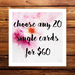 bulk cards 20 for $60