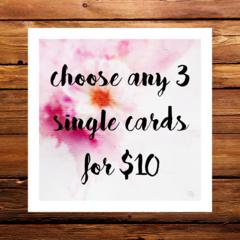 bulk cards 3 for $10