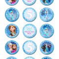 """Frozen Personalised Edible Cupcake Toppers - 2"""" - PRE-CUT"""