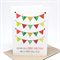 Christmas Card - 4 Rows of Christmas Bunting Flags - XMS030