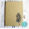 Peacock Feather Embossed A6 Journal Pocket Notebook - 100% Recycled Paper