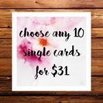 bulk cards 10 for $31