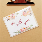Get well floral watercolour card