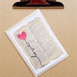 love heart balloon card