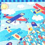 Cot Quilt - Aeroplanes