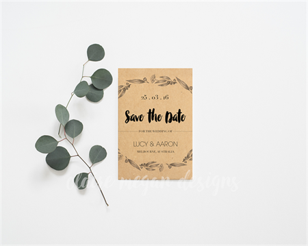 Save The Date - Eucalyptus Illustration