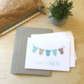 Thank You Baby Boy Card Pack - Boys Clothes - Set of 5 Cards - 5P002