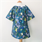 Smock - 3/4 sleeve - Retro Blue Floral - Girls Dress -