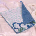 ECOFRIENDLY COTTON CLOTH Vintage Cerulean Blue Chenille and Tablecloth Linens