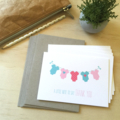 Thank You Baby Girl Card Pack - Girls Clothes - Set of 5 Cards - 5P003
