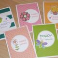 Set 5 Happy Birthday cards - cute cute cute!  Value Pack -  FREE POST !