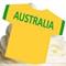12 PRE CUT EDIBLE RICE WAFER CARD AUSTRALIA FOOTBALL SHIRT CUPCAKE  TOPPERS