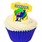 12 PRE CUT EDIBLE RICE WAFER CARD AUSTRALIA DAY T SHIRT CUPCAKE  TOPPERS
